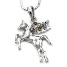 Unicorn Horse Necklace Pendant Animal Jewelry Lover For Teen Teenager Lady Women