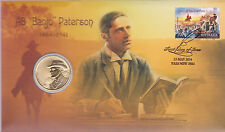 """2014 Bush Ballads AB """"""""Banjo"""""""" Paterson FDC/PNC With limited Edition $1 Coin"""
