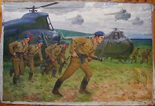 Russian Ukrainian Soviet oil author's painting helicopter soldier army realism
