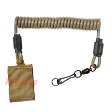 COYOTE TAN Pistol Lanyard Hook-n-Loop Belt Keeper Pistol Leash Sling Attachment