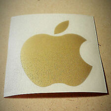 Apple computers logo GOLD metallic sticker - decal for ipad iMac iphone