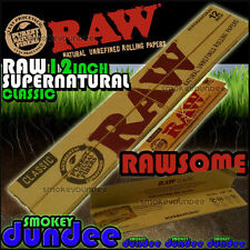 RAW CLASSIC SUPERNATURAL 12 INCH - Natural Unbleached Rolling Papers - HUGE!!