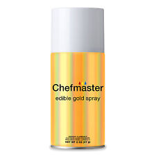 Chefmaster by US Cake Supply 2-Ounce Edible Glitter Gold Spray