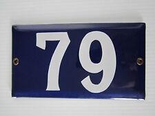 Vintage/Antique porcelain enamel road street house gate number sign plate #79