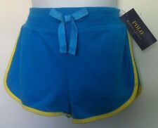Ralph Lauren Shorts~Solid Blue Body~Yellow Trim~Large Pink Logo~Size M(8-10)~NWT