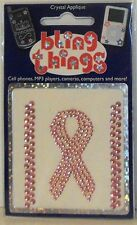 Pink Breast Cancer Ribbon Crystal Crystal Cell Phone BLING THING iPhone Sticker