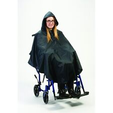 Flat Hem Poncho Waterproof Rain Mac Wheelchair Mobility Scooter Accessories Navy