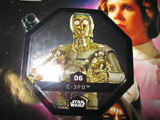STAR WARS LECLERC CARTE JETON C-3PO FOIL 06/54 COSMIC SHELLS FRENCH EXCLUSIVE