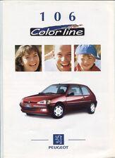 N°5257 /  PEUGEOT 106   color line  : dépliant serie limité 09/1997 belgique