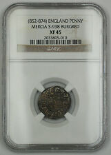 852-874 England Lunette Type Penny Silver Coin S-938 Burgred NGC XF-45 AKR