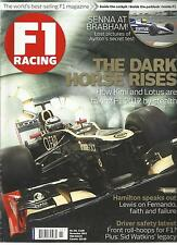 F1 RACING, NOVEMBER, 2012 ( THE WORLD'S BEST -SELLING F1 MAGAZINE ) THE DARK