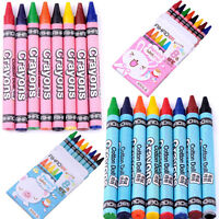 8 pcs Crayons Pack Assorted Colours Kids Pencil Set School Children Colouring