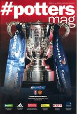 STOKE CITY v MAN UTD CAPITAL ONE CUP 2013/14 MINT PROGRAMME MANCHESTER