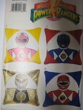 Vtg Butterick 4063 POWER RANGERS PILLOWS & TRANSFERS Sewing Pattern Child UNCUT