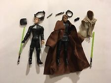 Star Wars 3.75 Luke Skywalker Jedi Knight 2 Figure Lot Loose