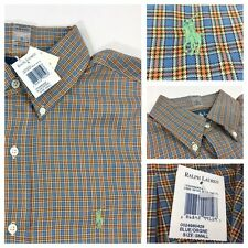 NEW Polo Ralph Lauren Classic Fit Long Sleeve Plaid Dress Casual Shirt Small S