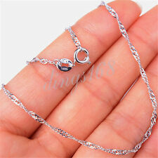 925 Sterling Silver Serpentine 1.5mm wide 17 inch Rope Chain Necklace H1121