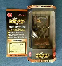 PEWTER BATMAN DC COMICS MODERN AGE LIMITED EDITION FIGURE