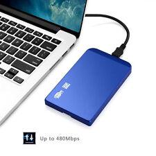 USB 2.0 HDD SATA 2.5 Zoll Festplatte Gehäuse Festplattengehäuse Blau