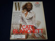2007 OCTOBER W FASHION MAGAZINE - CATE BLANCHETT - BEAUTIFUL FRONT COVER- J 2046