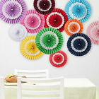 Hanging Tissue Paper Fans Fan Flowers Wedding Decoration Party Baby Shower X1 CA