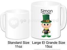 Personalised St Patricks Day Gift Large Mug Lucky Irish Leprechaun Boy Design 2