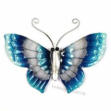 BUTTERFLY BLUE small Metal Wall Art for Indoor or Outdoor use