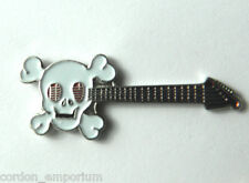 SKULL AXE MUSIC ROCK ELECTRIC GUITAR LAPEL PIN BADGE 3/4 INCH