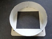 """6 7/8"""" ROUND DUCT TO A 4 1/4"""" X 5 1/4"""" SQUARE OPENING ALUMINUM"""