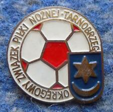 POLAND distr. TARNOBRZEG FOOTBALL FUSSBALL SOCCER FEDERATION 1970's PIN BADGE
