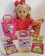"""Coloring Books & Mini Crayons SET for American Girl Doll 18"""" Accessories"""