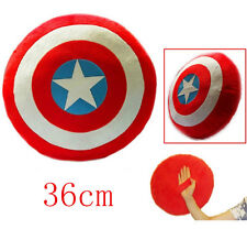 Captain America Shield Handle Plush Cosplay Throw Pillow Toy Gift 100% New