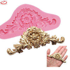 New Baroque Flower Embosser Silicone Fondant Mold Cake Decor Craft DIY Mold