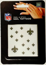 New Orleans Saints Peel & Stick Nail Tattoos