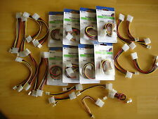 LOT OF 8 STARTECH.COM INTERNAL POWER Y CABLES PY02L NEW PY02L  BUNDLE