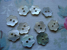 10 Flower Shape Agoya/Mother of Pearl Buttons