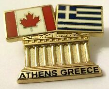 Pin Spilla Olimpiadi Athens 2004 Greece/Canada Flags