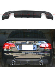 07-13 BMW 335i 328i 2D TWIN EXHAUST CARBON FIBER REAR DIFFUSER FIT M-TECH BUMPER