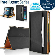 iPad 5 iPad 6 iPad Air Soft Leather Wallet SmartCover Sleep/Wake Stand Flip Case
