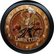 Personalized French Chef Le Friuts  Wall Clock Kitchen Decor