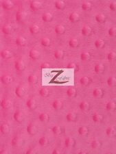 "DIMPLE DOT MINKY FABRIC - 23 Colors - 60"" WIDTH SOFT BABY SEW SOLD BY THE YARD"