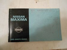1996 NISSAN MAXIMA FACTORY COMPLETE OWNERS MANUAL INSTRUCTION HANDBOOK