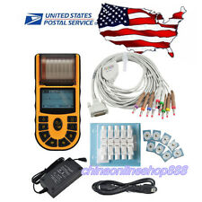 US Seller FDA Handheld ECG/EKG Digital 1 Channel 12-lead PC Software,Printer 80A