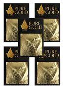 24CT Gold leaf Gilding - 50 Gold sheets, 4.5cm x 4.5cm 5 packs of 10 art craft