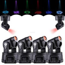 4x 15W LED 540° Mini Moving Head Bühnenbeleuchtung Licht Lichter DMX DJ Stage