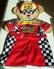 "Duffy the Disney Bear  Lightning Mcqueen 17"" Costume Outfit NEW Mickey Parks"