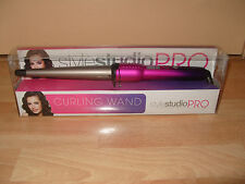 StyleStudio Pro Digital Curling Wand Hair Curler Styler Pink Conical Ceramic