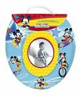 Cute Disney Mickey Mouse Blue Kids Padded Toilet Seat Soft Potty Training