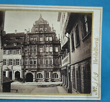 1860s German Stereoview Heidelburg Baroque Hotel Ritter By L Meder
