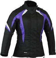 Purple Ladies Motorbike Motorcycle Jacket Waterproof Coat